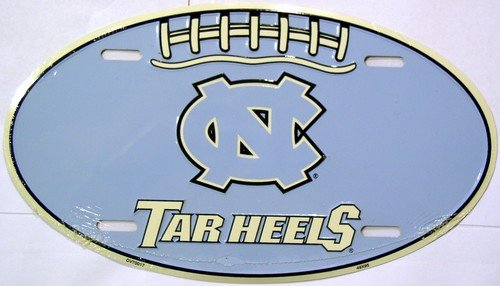 University of North Carolina Tar Heels Embossed Novelty Vanity Metal Oval License Plate Tag Sign OV70017