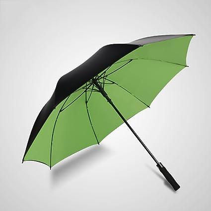 Paraguas Paraguas Hombres Mango Largo Automático Sombra Paraguas Lluvia Soleado 109cm Diámetro (Color : Verde