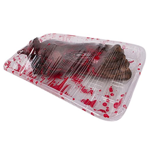 Timall Halloween Decoration Party Scary Decor Latex Props Outdoor Garden Decor Chopped Hand Broken Bloody Hand Bloody Lunch Box Heart Lunch