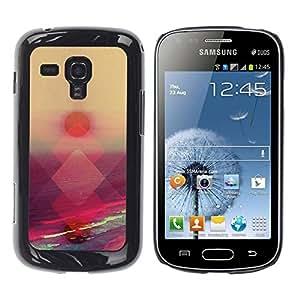 Be Good Phone Accessory // Dura Cáscara cubierta Protectora Caso Carcasa Funda de Protección para Samsung Galaxy S Duos S7562 // Sunset Sea Summer Pink Orange Nature