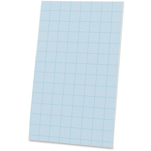 Ampad Cross-section Quadrille Pads - 40 Sheet - 20 lb - Quad Ruled - Legal 8.50'' x 14'' - 40 / Pad - White Paper by Ampad