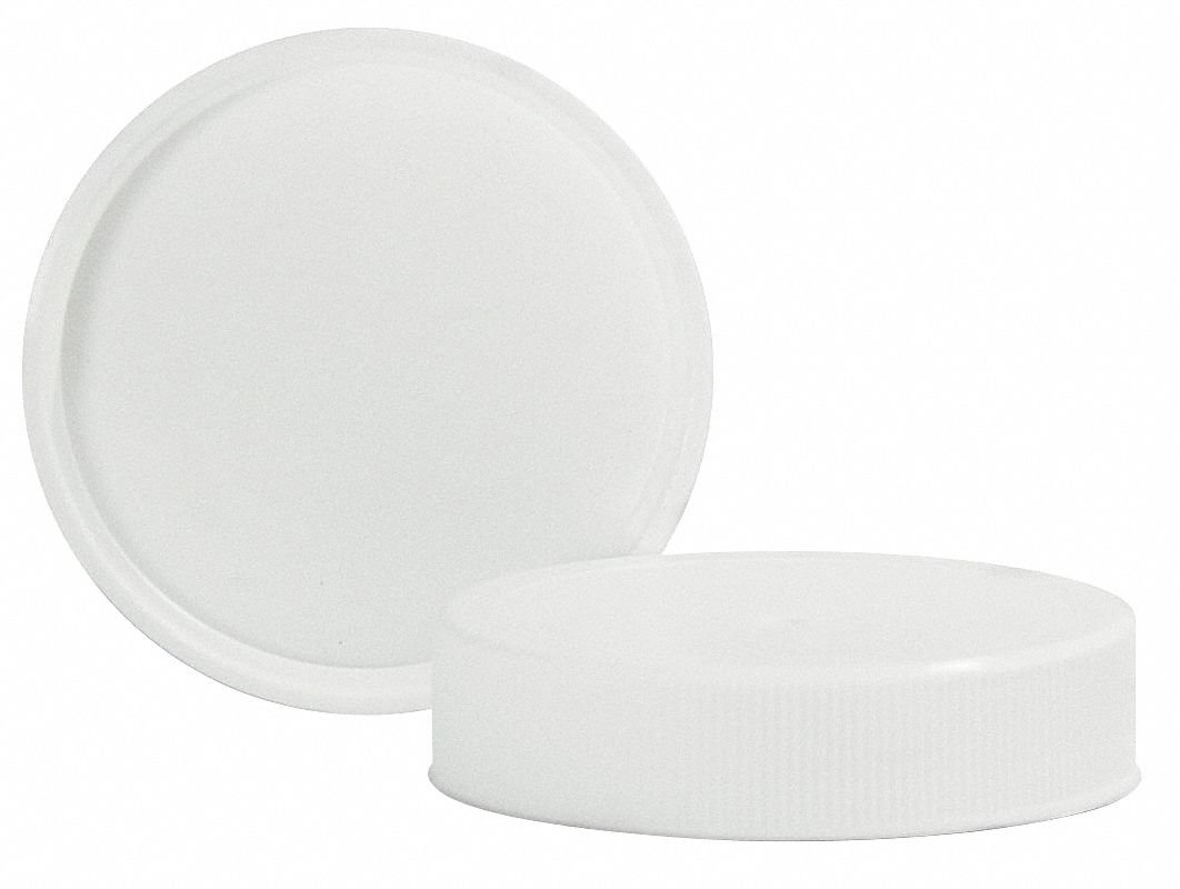 Polypropylene Screw On Wide-Mouth Closure, White, 760 PK by QORPAK (Image #1)