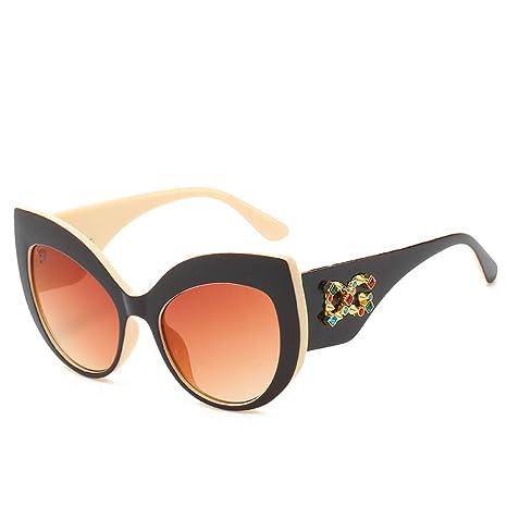 Yangjing-hl Moda Moda Diamante Gafas de Sol Personalidad ...