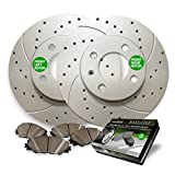 1996 camaro rotors - Front Premium Drilled and Slotted Brake Rotors and severe Duty Metallic Pads BAXMBKG20062MDS