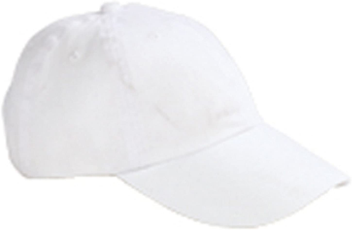 OS WHITE Big Accessories Youth 6-Panel Brushed Twill Unstructured Cap
