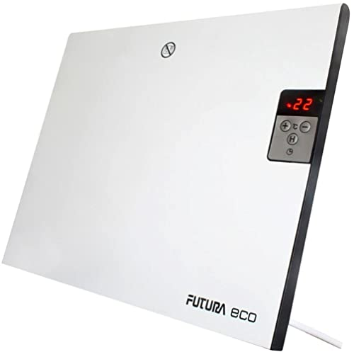 Futura Eco 400W Deluxe Electric Panel Heater Radiator, Wall Mounted Or Free  Standing With Thermostat