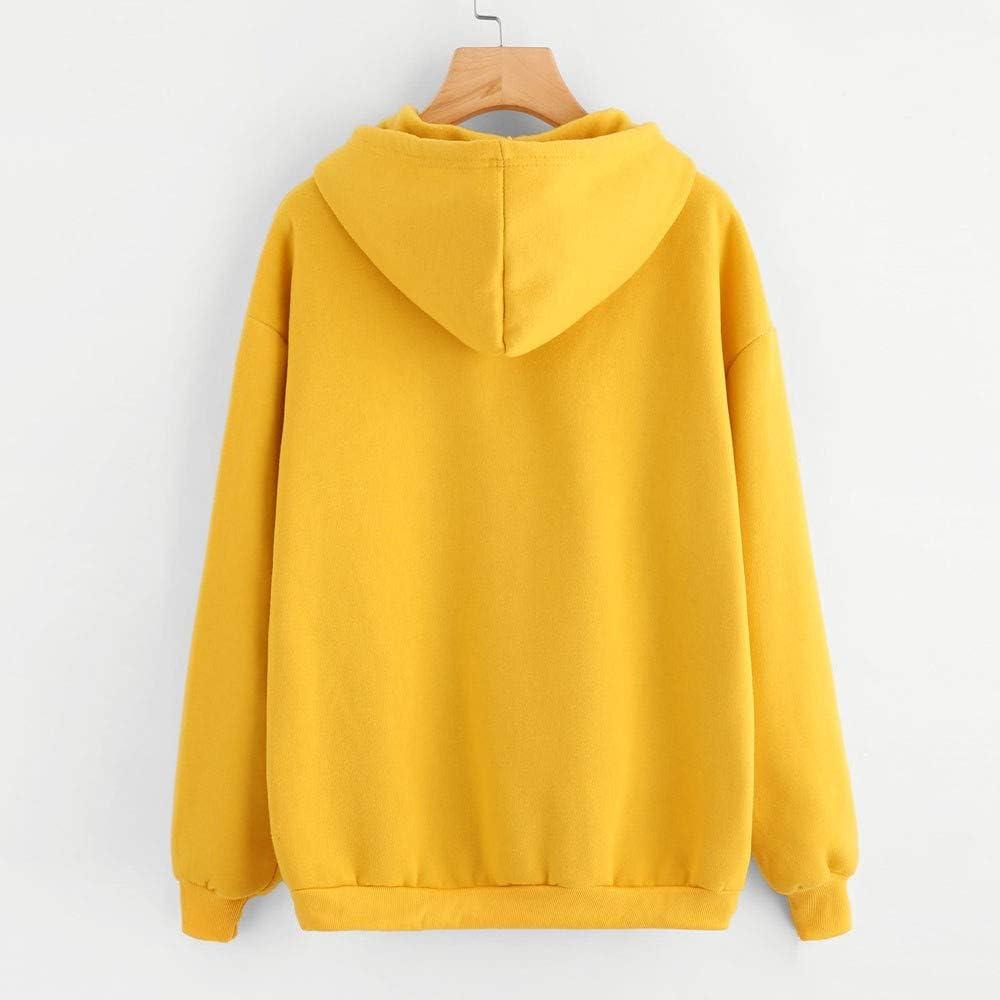 Girls Hoodie Misaky Cute Cartoon Print Pocket Long Sleeve Drawstring Hooded Pullover Sweatshirt Blouse Tops