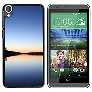 Paccase / SLIM PC / Aliminium Casa Carcasa Funda Case Cover - Calm lake - HTC Desire 820
