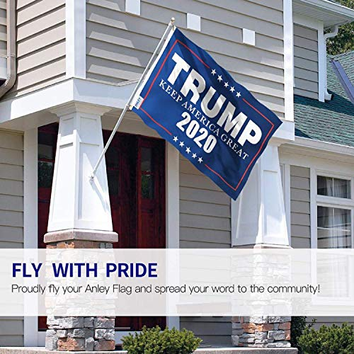 Kindsells 35.43x59.06inch Donald Trump Flag Decoration Letters Pattern Banner Vivid Color Canvas Header and Double Stitched (Blue)