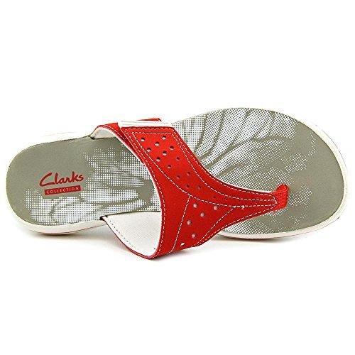 Clarks Brinkley Star Sandalo Infradito Sintetico Rosso