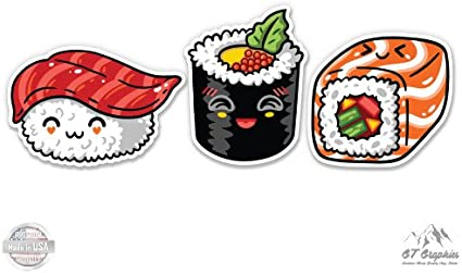 SELECT SIZE I Love Sushi Cute Car Laptop Phone Vinyl Sticker