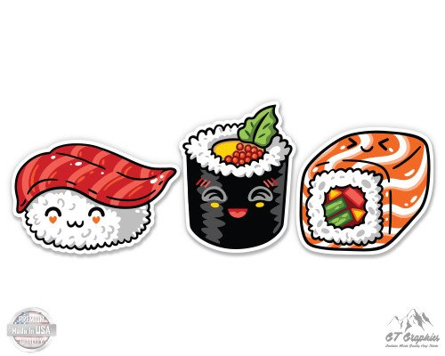 (Sushi Set of 3 Cute - 4