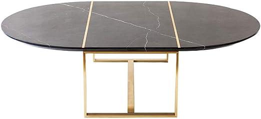 Y-Leah Simple Smooth Gold Lines Mesa de Centro Negra, computadora ...