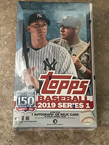 2019 Topps Series 1 Baseball Hobby Box (24 Packs/14 Cards, 1 Silver Pack) -