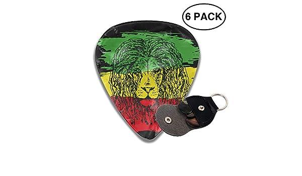 JTBP6-id púas de Guitarra Reggae Rasta Bandera León 351 Forma Guitarra púas para bajo Guitarra eléctrica Guitarra acústica 6 Paquetes: Amazon.es: Deportes y ...
