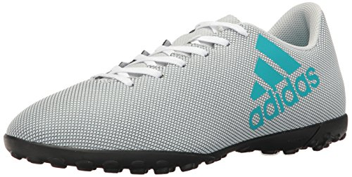 adidas Men's Shoes | X 17.4 Turf Soccer, White/Energy Blue/Clear Grey, (8 M US)