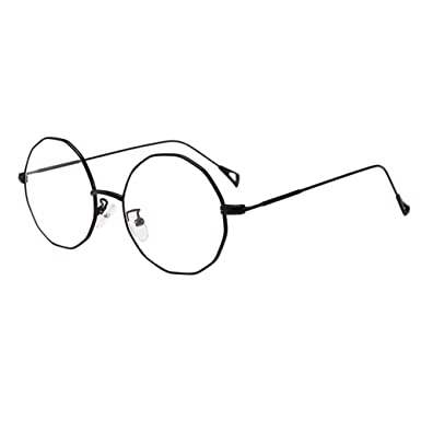 11610268a4 Meijunter Black Irregular Polygon Metal Frame Nearsighted Glasses