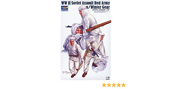 Trumpeter WWII Soviet Assault Red Army in Winter Gear Figure Set 4-Piece 1//35 Scale