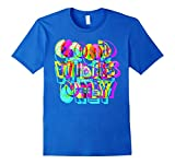 neon colored shirts - Mens Good Vibes Only - crossed neon colored T-Shirt XL Royal Blue
