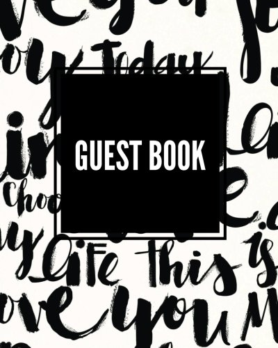 Guest Book: Love Language: Wedding Message book, Journal, keepsake, memorabilia for friend & family to write in, 50 blank pages with quote, 8x10in