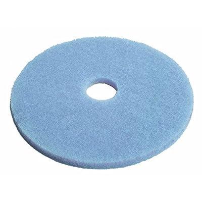 "HUBERT Floor Cleaning Pad Round Blue - 20"" Dia Case of 5"