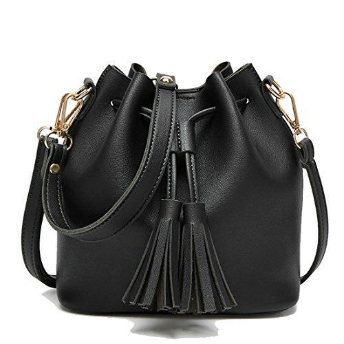 UNYU Crossbody Shoulder Bag - Bolso al hombro para mujer Negro