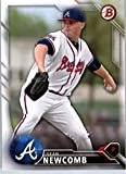 2016 Bowman Prospects #BP65 Sean Newcomb Atlanta Braves Baseball Card in Protective Screwdown Display Case
