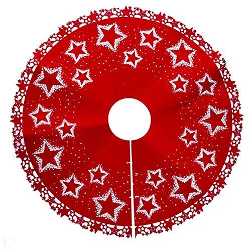 Fat Mashroom Falda árbol de Navidad Estampado de Estrellas Vestido ...