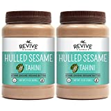 Revive Naturals Stone-Ground Native Sesame Tahini, Hulled, Unsalted, Non-GMO, Gluten-Free, Kosher, Vegan, Tree Nut-Free, 15 Ounce (2-Pack)