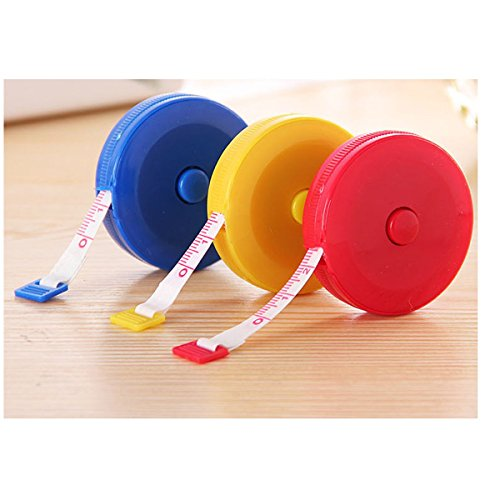 Tacoli- Compact Size Measuring Tape-Pocket Plastic Round Tape Measure Tapeline Tape Measure Ruler Sewing Tool- Measuring Tapes For Body by Tacoli