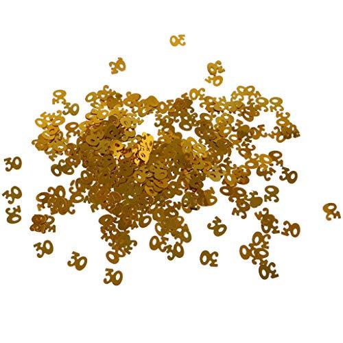 BROSCO Glitter 30th Birthday Table Confetti Wedding Anniversary Birhday Party Decor -