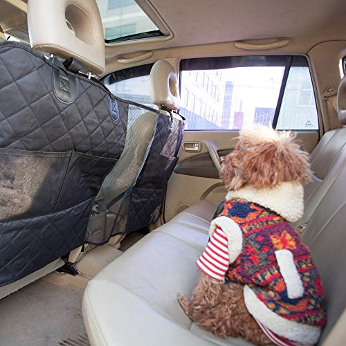 Pet Barrier Safety Net Universal for Cars, SUV, Trucks, Vehicles, Car Backseat Dog Barrier Storage Net for Travel Driving, Children and Pets ()