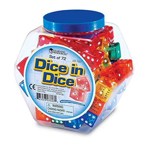LEARNING RESOURCES DICE IN DICE (Set of 6) by Learning Resources