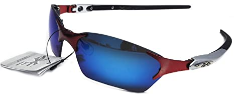 Xloop Metal Rimless Sports Run Triathlon Sunglasses 2326 Blue Lens