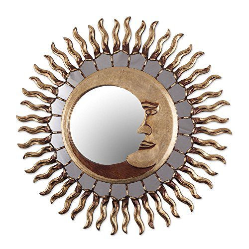 Celestial Bronze Leaf Wall Mounted Mirror, Cuzco Eclipse' ()