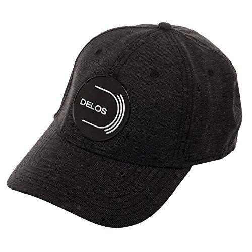 Bioworld Westworld Delos Embroidered Logo Flex Cap,Black,OSFM