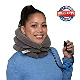 EverRelief Cervical Neck Traction Device - Inflatable & Adjustable Neck Stretcher Collar - at Home Traction for Neck Pain Relief