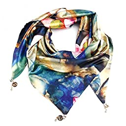 BD Women Girl Pendant Wraps Scarf Neckerchief Pashmina Scarves Shawl Neck Gaiter