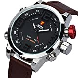 Zeiger Mens Watch Unusual Military Sport Wrist Watch Forces Marine Corps Swiss Army Big Face ( Black)