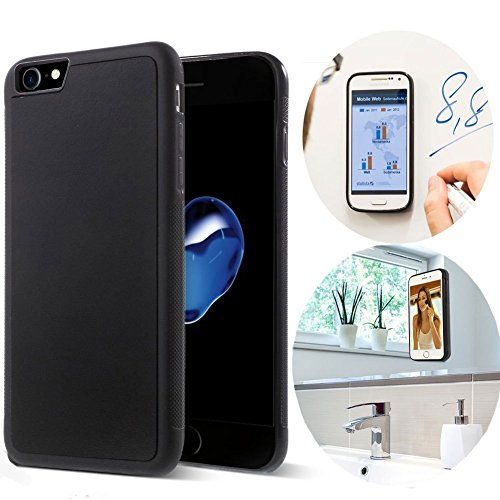 iPhone 8 Case / iPhone 7 Case, CloudValley Anti Gravity Phone Case Magical Nano Can Stick to Glass, Whiteboards, Tile and Smooth Flat Surfaces for Apple iPhone 8 (2017) / iPhone 7 (2016) [black] - Anti Goat