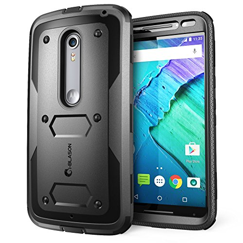 Moto X Pure Edition Case, i-Blason Armorbox Dual Layer Hybrid Full-Body Protective Case for Motorola Moto X Style/Pure Edition 2015 with Front Cover and Builtin Screen Protector Bumper(Black)