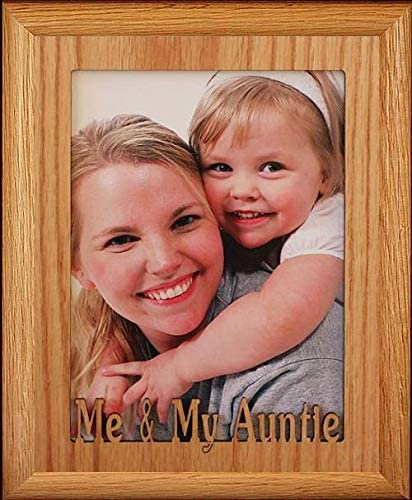 8x10 Cut Out Portrait Mat w// Oak Frame Personalized