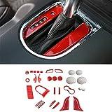 Hgcar Red Automotive Trim Automotive Interior Decoration 36PCS for Ford Mustang 2015-2016