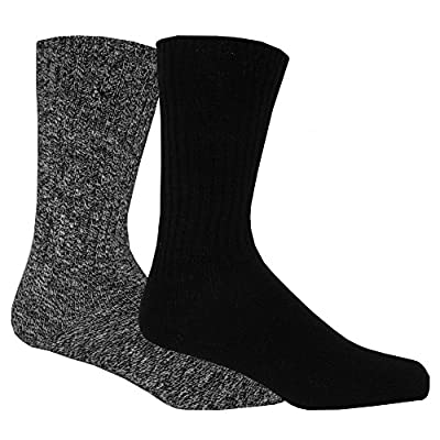 Calvin Klein 2-Pack Ribbed Cotton Men's Boot Socks, Black