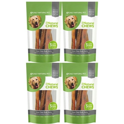 Only Natural Pet Free Range Low Odor Bully Stick 6'' 20pk