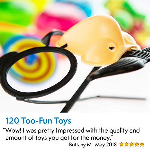 Party Favors for Kids Goodie Bags - 120 Pc Party Supplies Bulk Toys Pack for Birthday Goodie Bags Birthday Party Favors Pinata Filler Prizes and More by PartySticks (Image #5)