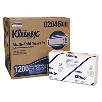 KIMBERLY-CLARK PROFESSIONAL* KLEENEX Multifold Towels, 16.3 x 8.5, 2-Ply