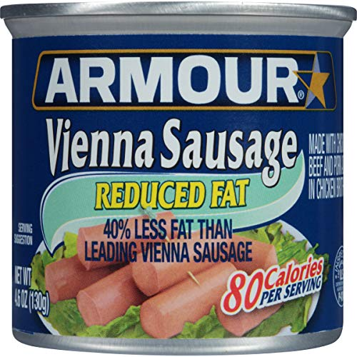 Armour Vienna Sausage, Reduced Fat, 4.6 Ounce (Pack of 24)