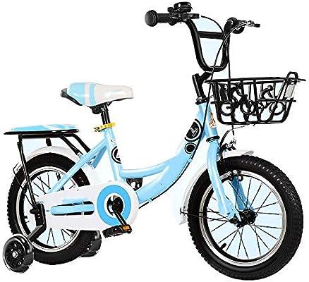 YUMEIGE Bicicletas Bicicleta Infantil para niños y niñas marco de acero al carbono, Bicicleta Infantil 2-15 años regalo para niños, Bicicleta 12 14 16 18 20 pulgadas con rueda de entrenamiento Disponi: Amazon.es: Jardín