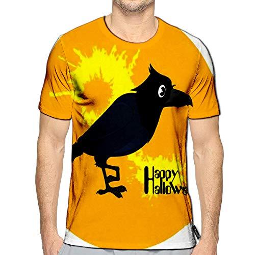 3D Printed T-Shirts Halloween Black Bird On The